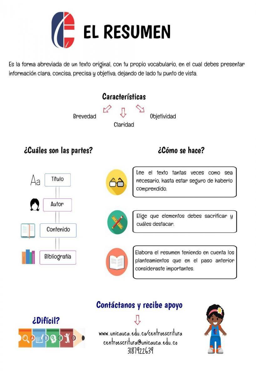 Materiales de apoyo | Centro de escritura