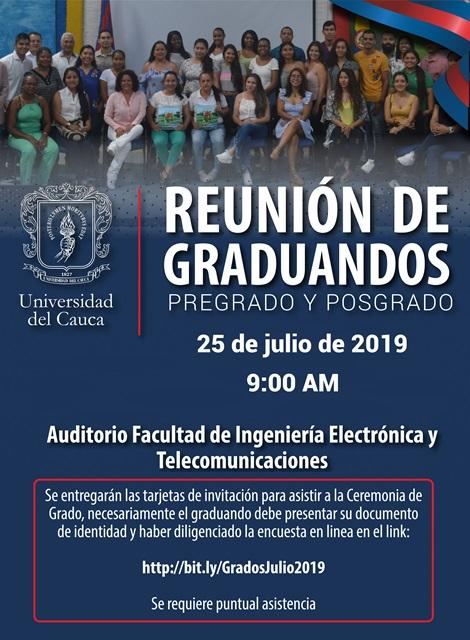 Reunión De Graduandos Universidad Del Cauca